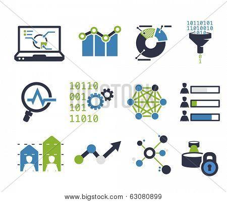 Data analytic icon set