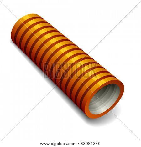 vector orange plumbing corrugated tube