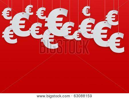 Hung symbols Euro. Vector Illustration.