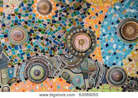 Mosaic ceramic in Wat Phasornkaew