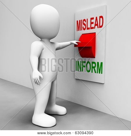 Mislead Inform Switch Shows Misleading Or Informative Advice