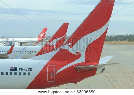 Qantas airplanes