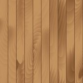 Vector Illustration of Seamless Wood Plank Texture Background poster