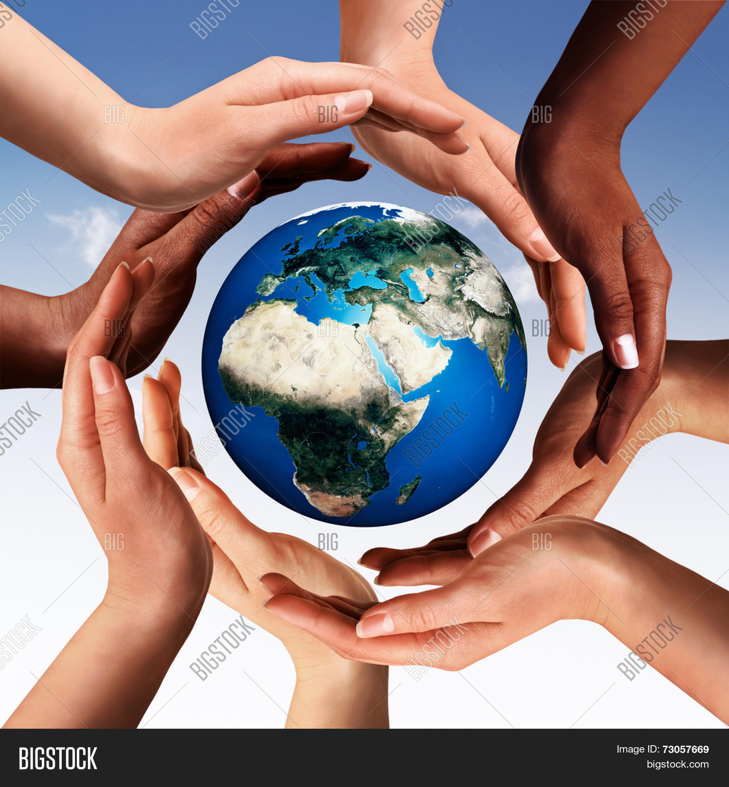 Conceptual peace cultural diversity image photo bigstock conceptual peace and cultural diversity symbol of multiracial hands making a circle together around the world biocorpaavc
