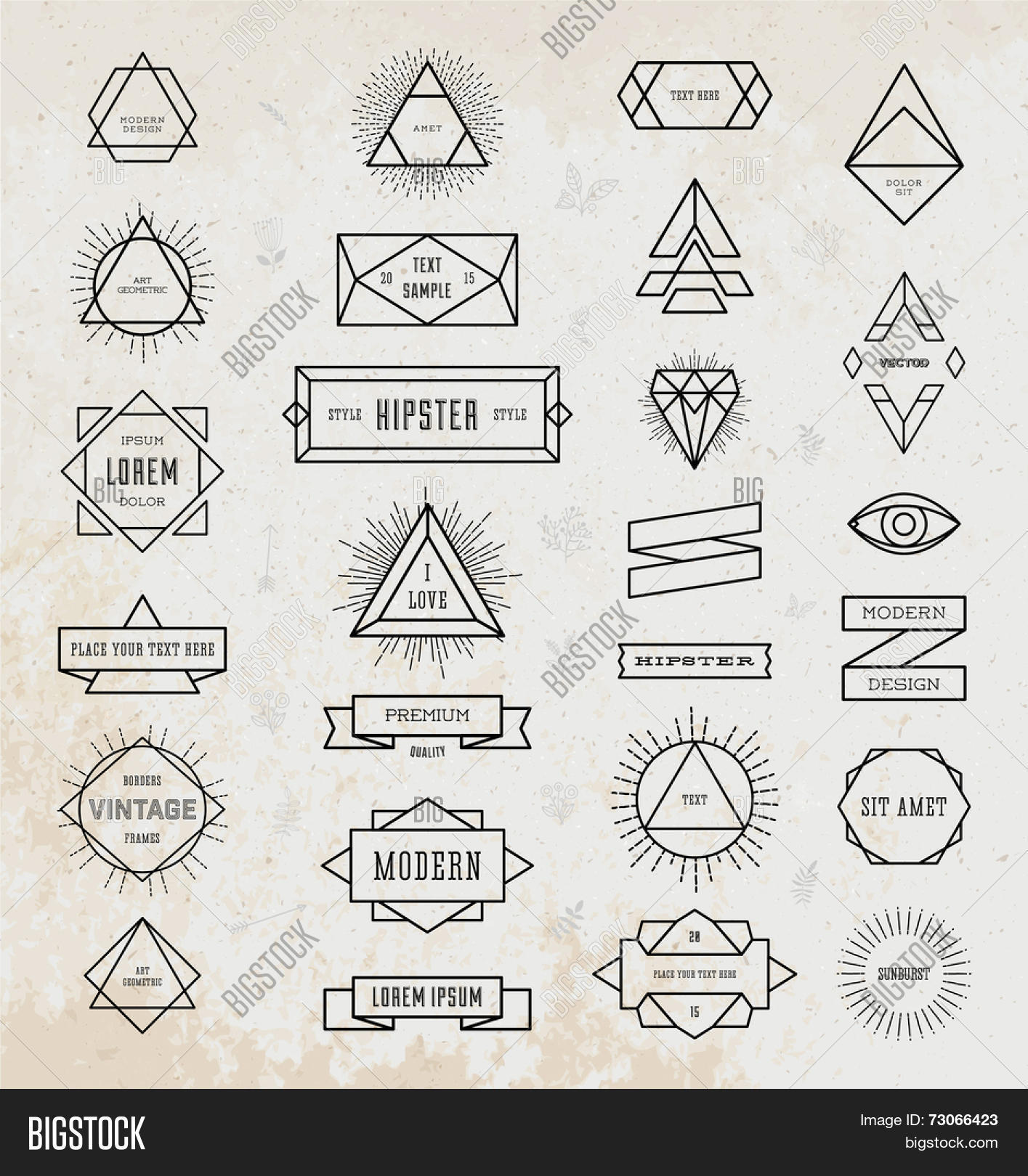 Set Vintage Hipster Labels. Retro Vector  for Vector Light Rays Vintage  55jwn