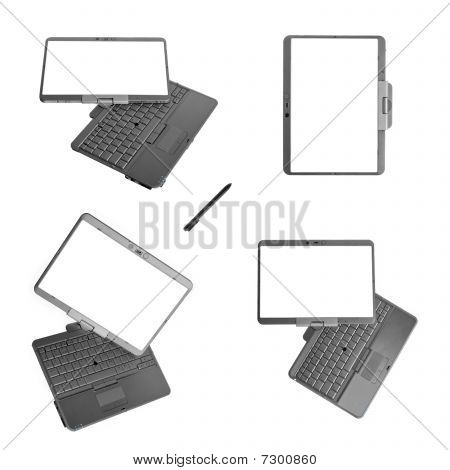 Tablet Pc Laptop On White Background