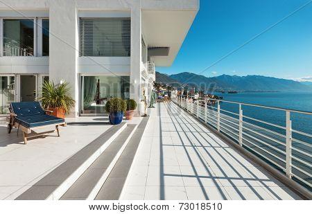 wide terrace of a penthouse, outside