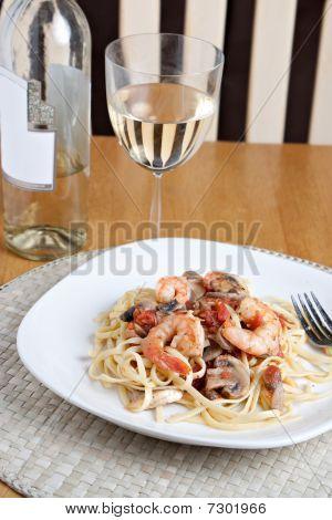 Shrimp Scampi Dish