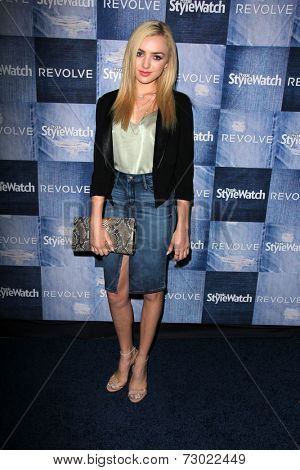 LOS ANGELES - SEP 18:  Peyton List at the People Stylewatch Hosts Hollywood Denim Party at The Line on September 18, 2014 in Los Angeles, CA