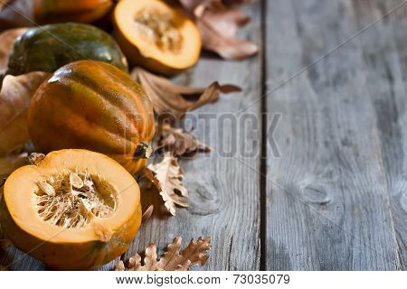 Decorative Pumpkins Background