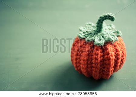 Cute Crocheted Mini Pumpkin, Halloween crochet for home decorating
