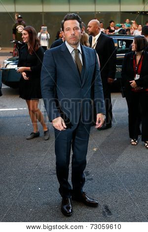 NEW YORK-SEP 26: Actor Ben Affleck attends the world premiere of