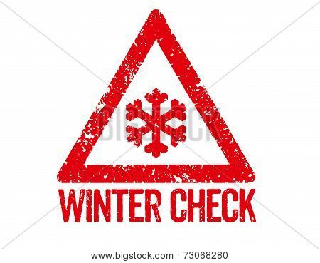 Red Stamp on a white background - Winter Check