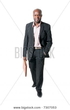 Happy African Businessman Smiling