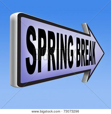 spring break holiday or school vacation