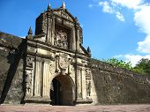 gate entrance to fort santiago intramuros, the walled city poster