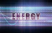 Energy on a Tech Business Chart Art poster