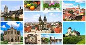 Collection - famous places of Czech Republic poster