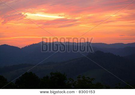 Orange Mountain Sunset