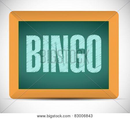 Bingo Board Sign Illustration Design