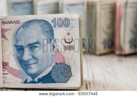 Bunch Of Turkish Lira