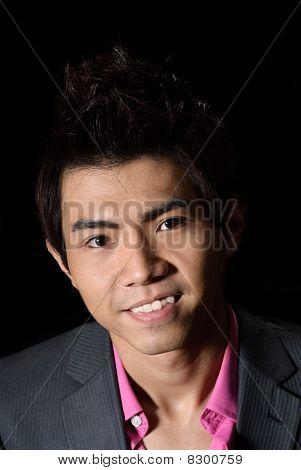 Happy Oriental Business Man