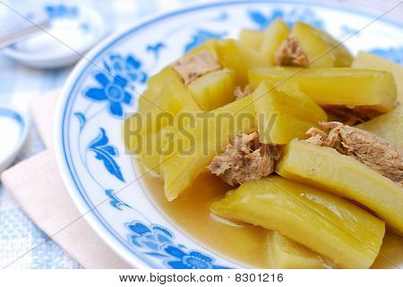 Chinese Bitter Gourd And Meat Cuisine