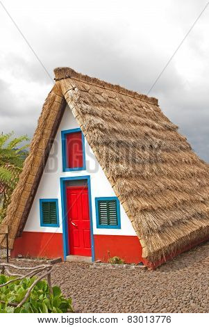 The Typcal House Santana  Of Madeira Island