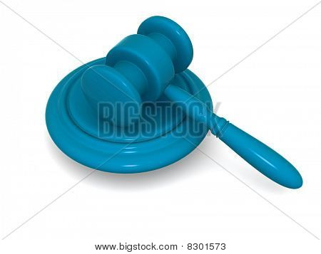 3D Rendered Auction Hammer