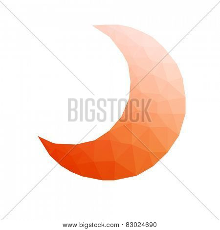 low-poly moon