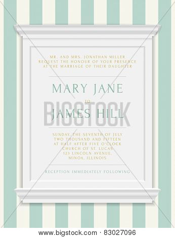Invitation to the wedding or announcements. Vector vintage frame moldings on rich background in damask style
