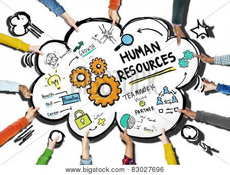 Human Resources Employment Job Teamwork Support Team Concept
