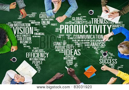 Productivity Mission Strategy Business World Vision Concept poster