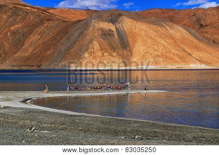 Mountains , Pangong Tso (lake),leh,ladakh,jammu And Kashmir,india