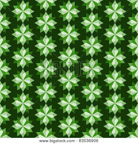 Green Abstract Rhomboid Or Diamond Seamless Pattern