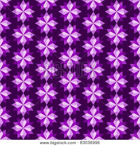 Violet Abstract Rhomboid Or Diamond Seamless Pattern