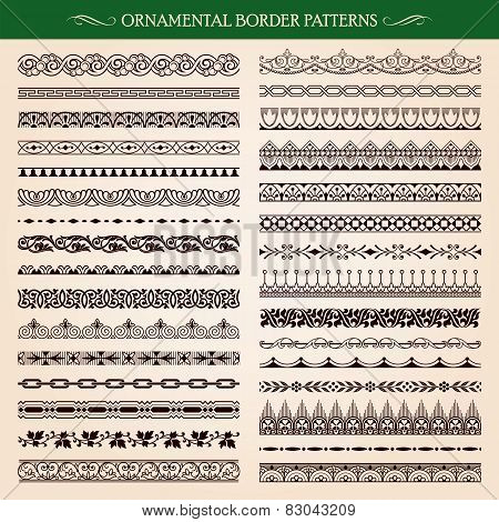 Ornamental Border Frame Patterns Vector