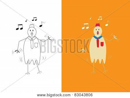 Chicken Businessman Dancing