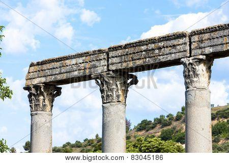 close up of Roman Temple, Riez, Provence-Alpes-Cote d'Azur, France poster