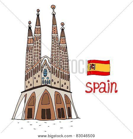 La Sagrada Familia Vector illustration