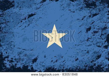 Somalian flag. Grunge background. Vector illustration