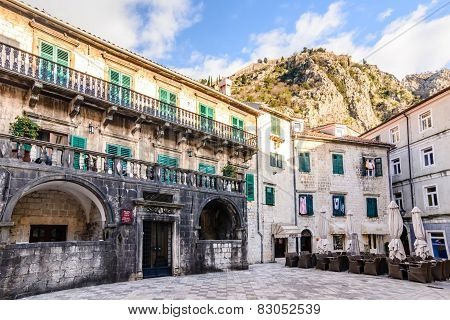 Palace Of Pima Family, Kotor, Montenegro. Unesco Town.