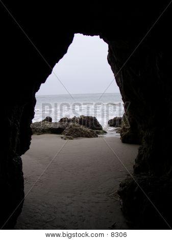 Beach Through Arch
