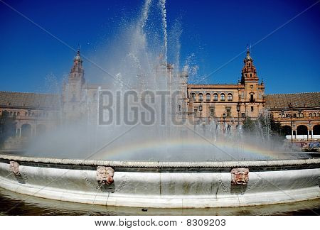 Rainbow at Spanish square