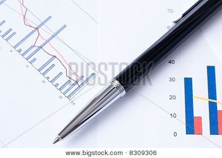 Pen And Business Graph