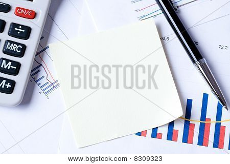 Notepaper On Business Plan