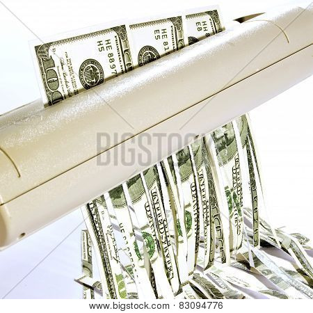 Currency Being Shredded