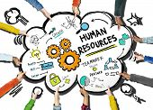 Human Resources Employment Job Teamwork Support Team Concept poster