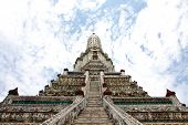 Ancient pagoda in temple of dawn in Thailand poster
