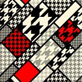 Seamless background pattern. Diagonal geometric pattern fron houndstooths patterns. poster